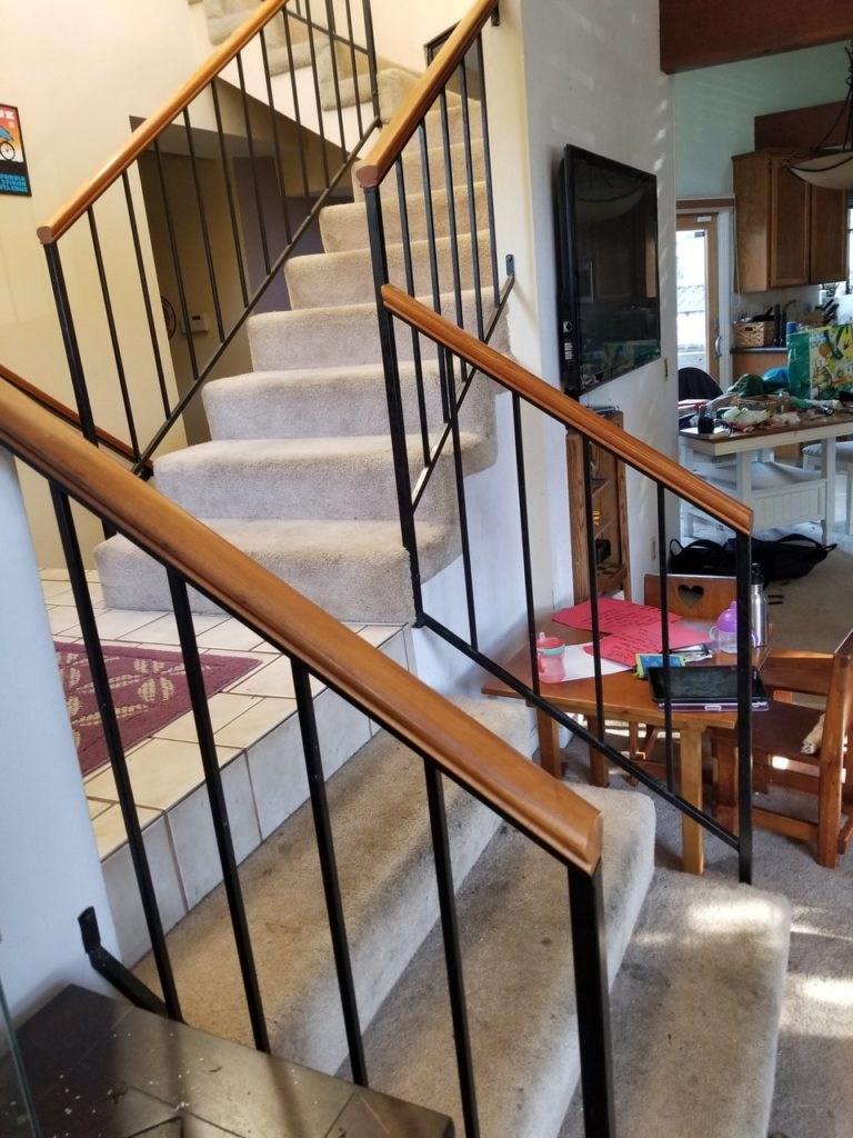 Hardwood Stairs Replace Carpeting Sunnyvale   Replacing Carpeted Stairs With Hardwood   Stair Tread   Staircase Makeover   Hardwood Flooring   Stair Case   Laminate Flooring