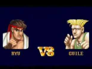 Ryu VS Guile Anime Street Fighter 2