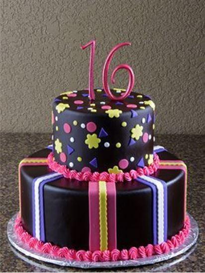 Elegant Cakery Sweet 16 Birthday Cake