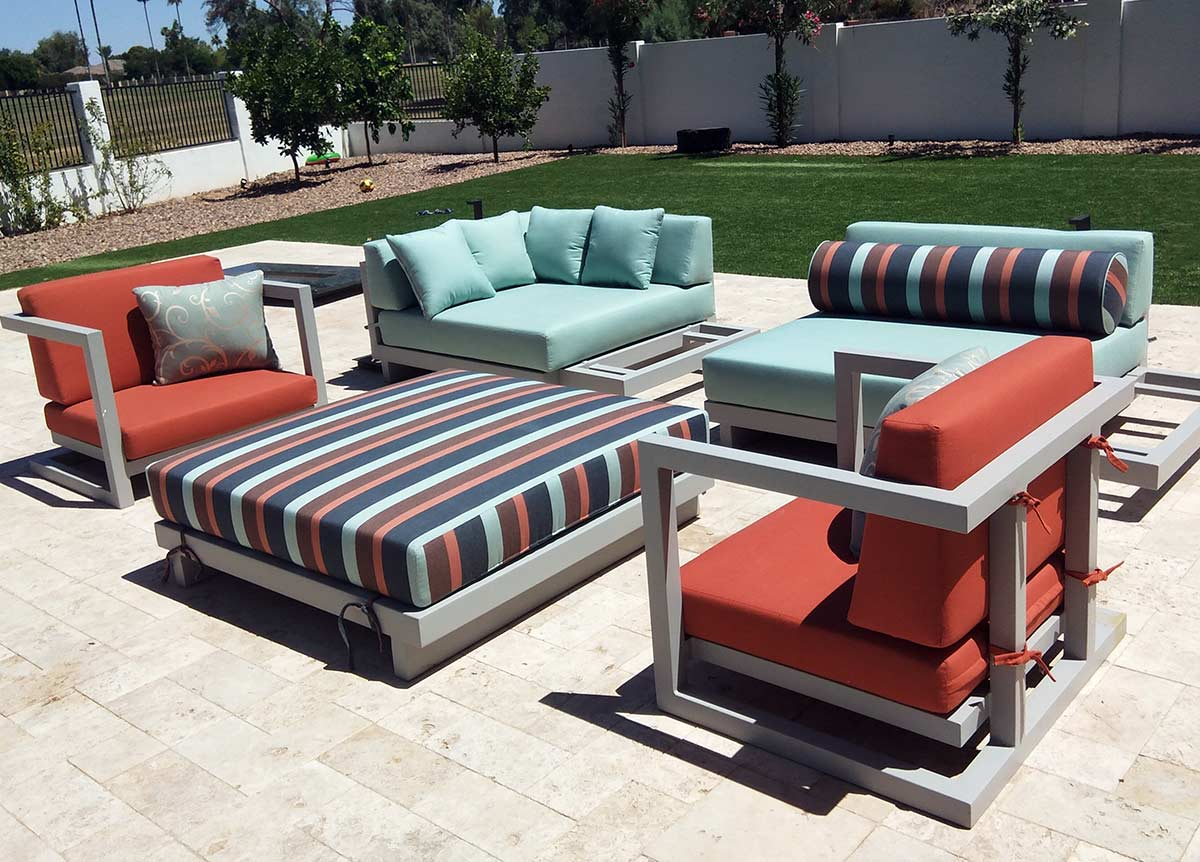 custom outdoor cushions patio seat