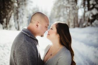 Kao and Jennifer Tahoe Engagement photo session