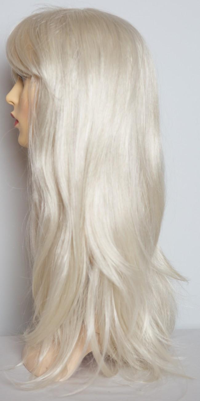20 Ladies Full WIG Long Hair Piece FLICK Style Platinum