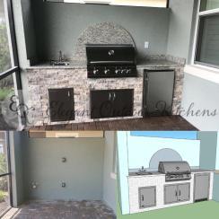 WCI outdoor kitchen rough-in - Prato Pelican Preserve
