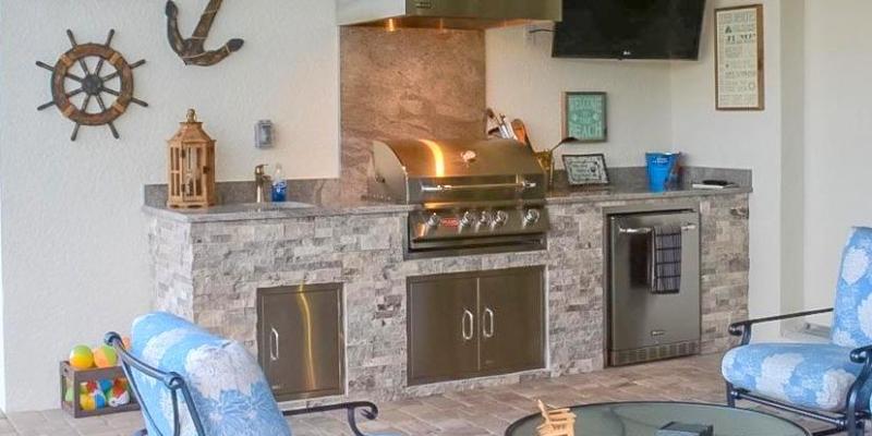 Outdoor Kitchen Pulte Bridgetown Fort Myers