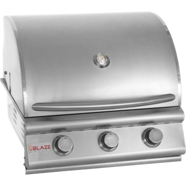 Blaze 25 Inch 3-Burner Built-In Barbecue Grill