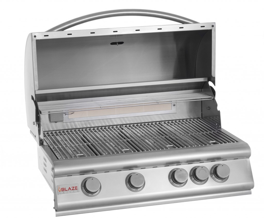 Blaze 32 Inch 4 Burner Grill With Rear Burner U2013 Open Grill Head