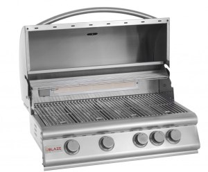Blaze 32 Inch 4-Burner Grill With Rear Burner - Open Grill Head