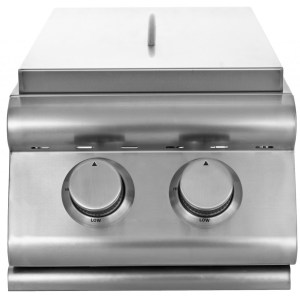 Blaze Built-In Double Side Burner - Close-Up
