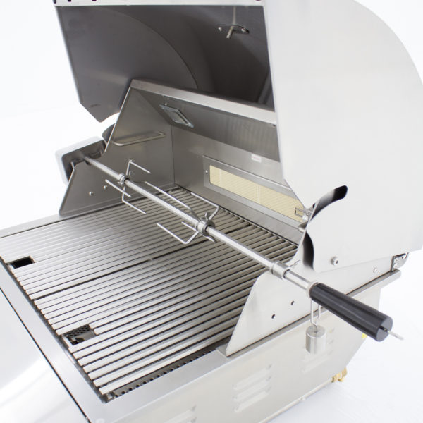 Blaze Professional 27-Inch 2 Burner Built-In Gas Grill With Rear Infrared Burner - Open Grill Head