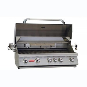 Bull - 5 Burner Brahma Grill with Infrared Back Burner Head Open
