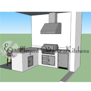Custom Outdoor Kitchen Design - CAD (Computer Aided Design)