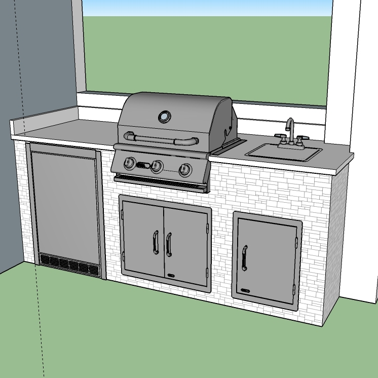 Custom Outdoor Kitchen Design Using CAD (Computer Aided Design). Elegant  Outdoor Kitchens Uses