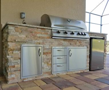 Custom Outdoor Kitchen Design Services of Fort Myers, Florida