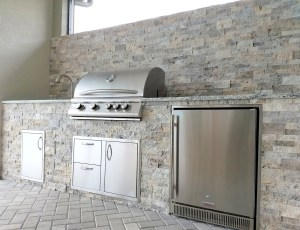 Custom Barbecue Island in Pelican Preserve - Elegant Outdoor Kitchens of Fort Myers, Florida