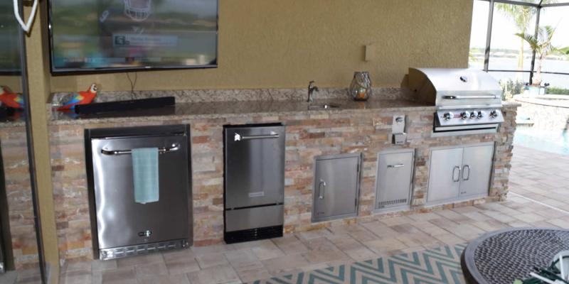 Custom Outdoor Kitchen in Corkscrew Shores - Southwest Florida Pulte Home Community