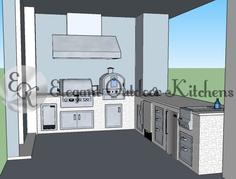 Outdoor Kitchen CAD Drawing - Fire Magic Outdoor Kitchen