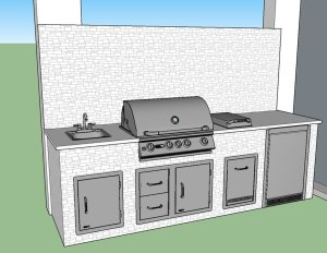 Elegant Outdoor Kitchens - Estero Corkscrew Shores Pulte Homes - CAD Design