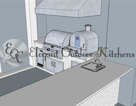 Left Side - Elegant Outdoor Kitchens Custom Kitchen Design