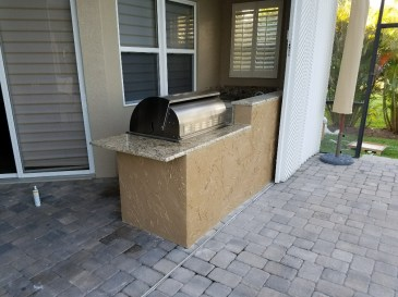 Rear Photo of Custom Outdoor Kitchen Extension