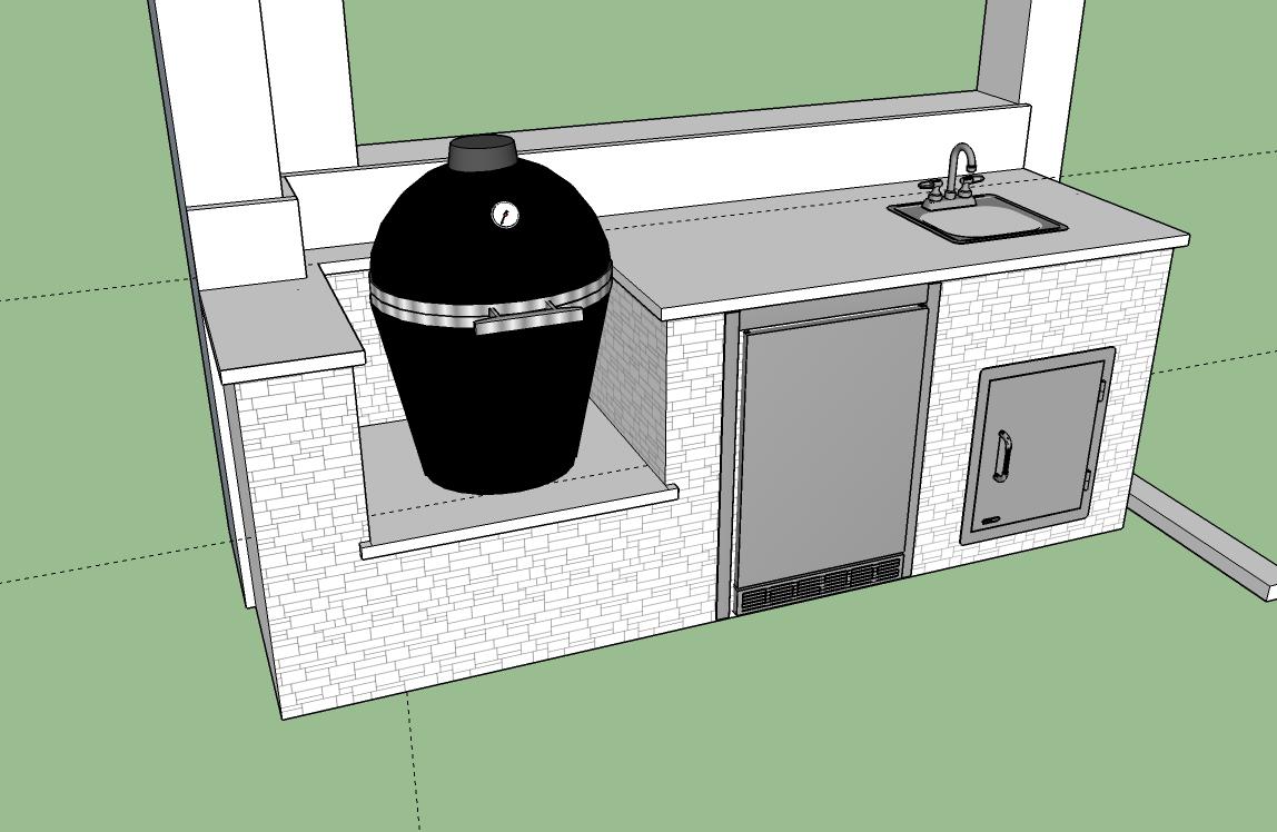 The Big Green Egg Outdoor Kitchen - Elegant Outdoor Kitchens