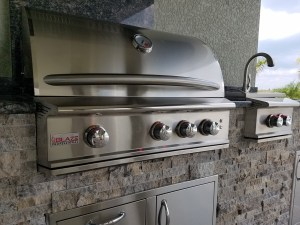 Close-up of Blaze 34 Inch Professional 3-Burner Grill