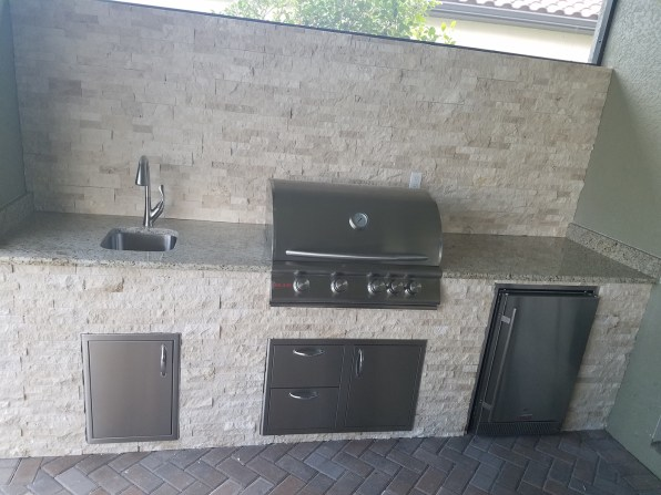 Elegant Outdoor Kitchens Custom Outdoor Kitchen Construction Fort Myers