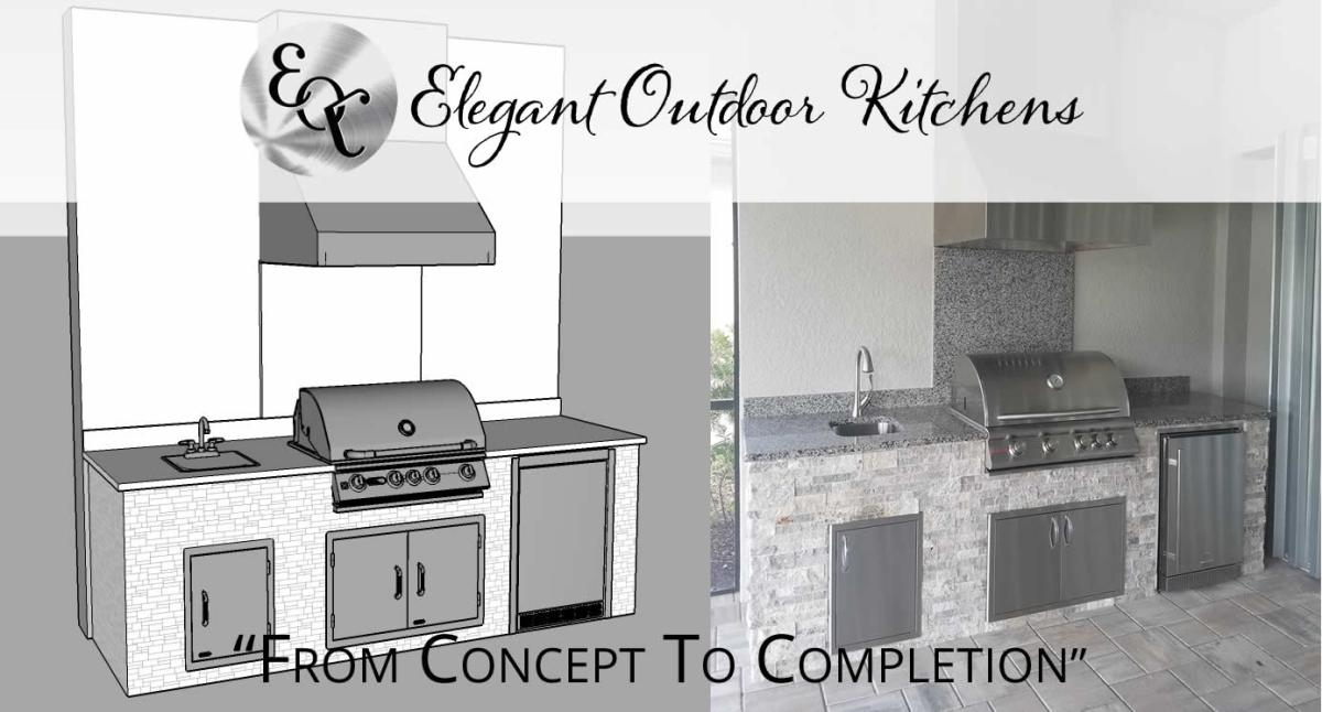 From Concept to Completion - Custom Outdoor Kitchen Design