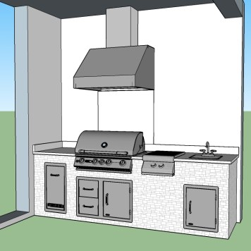 Front of Custom Elegant Outdoor Kitchen Design