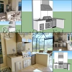 Paseo Outdoor Kitchen Design by Elegant Outdoor Kitchens