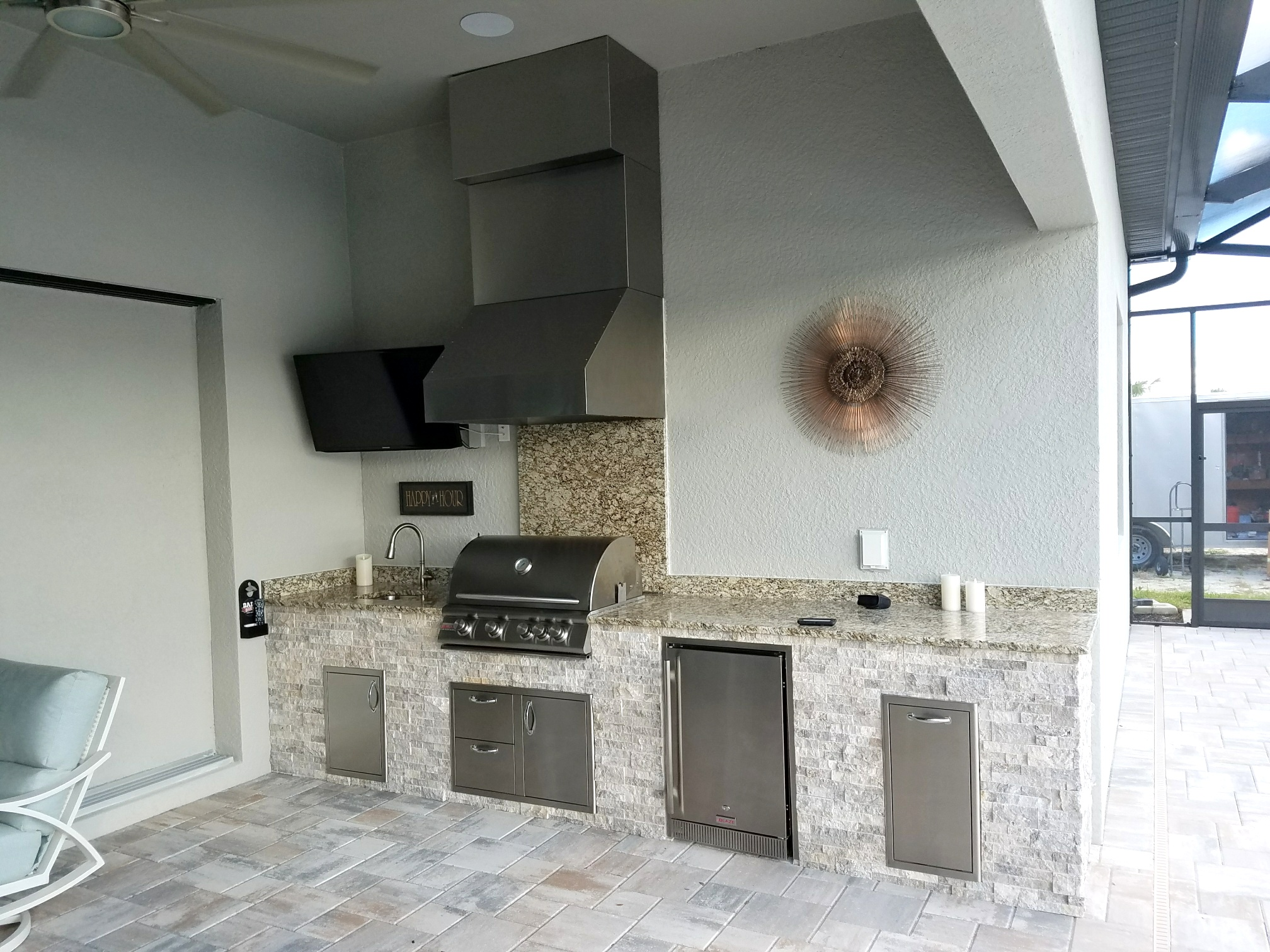 elegant outdoor living exterior custom barbecue island outdoor living area by elegant kitchens project portfolios archive page of
