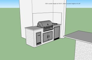 Custom Outdoor Living Area w/ Custom Tabletop Bar