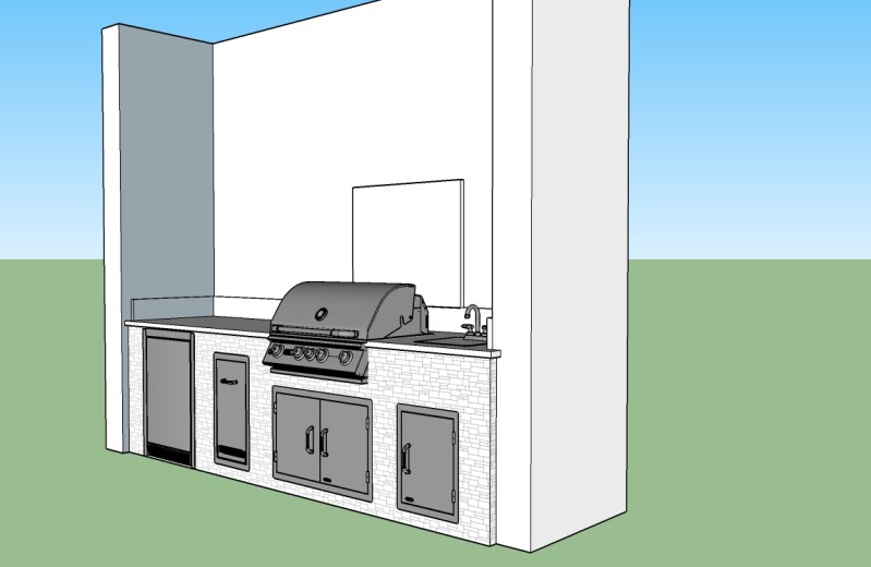 Beautifully Classic Custom Outdoor Kitchen Design by Elegant Outdoor Kitchens - Custom Outdoor Kitchen Contractors of Southwest Florida