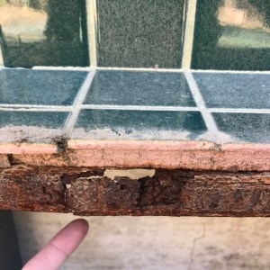 Corroded Outdoor Kitchen Structure