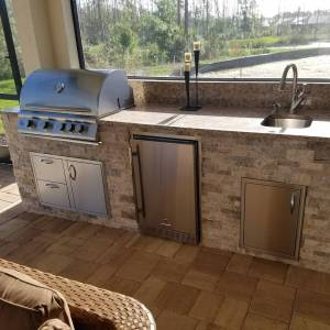Custom Outdoor Kitchen Design & Manufacturing Services SWFL - Elegant Outdoor Kitchens