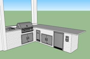 Custom Outdoor Kitchen Design by Elegant Outdoor Kitchens