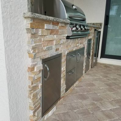 Arborwood Preserve Linear Custom Outdoor Kitchen by Elegant Outdoor Kitchens of SWFL