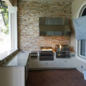 Elegant Outdoor Kitchens Custom Barbecue Island