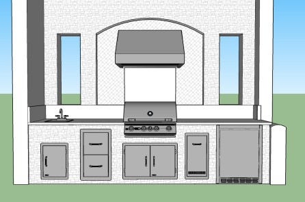Custom Outdoor Kitchen CAD Design by Elegant Outdoor Kitchens of Southwest Florida