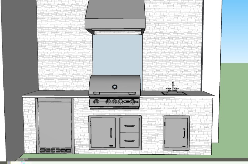 3D Custom Barbecue Island Design by Elegant Outdoor Kitchens of SWFL