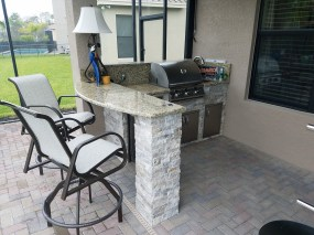 Elegant Outdoor Kitchens - Marina Bay Project - L-Shape Counter
