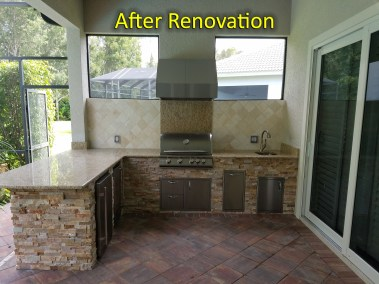 Outdoor Kitchen Renovation - After Photo