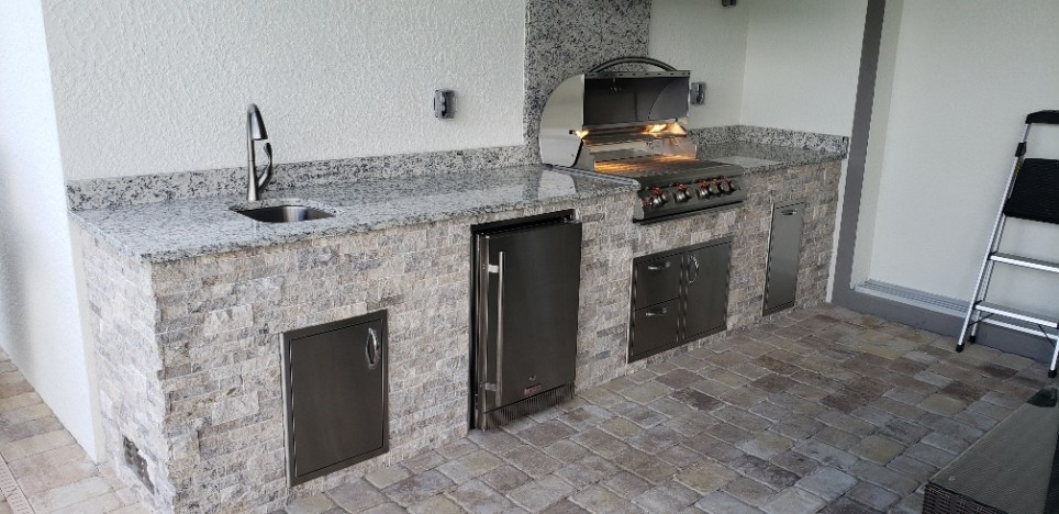 Branco Dallas Outdoor Kitchen main view by Elegant Outdoor Kitchens
