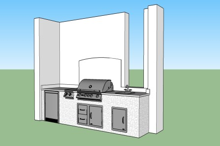 Prato Outdoor Kitchen by Elegant Outdoor Kitchens, Fort Myers, FL. CAD file 2