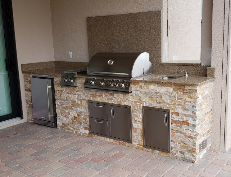 Prato Outdoor Kitchen by Elegant Outdoor Kitchens, Fort Myers, FL. - side view