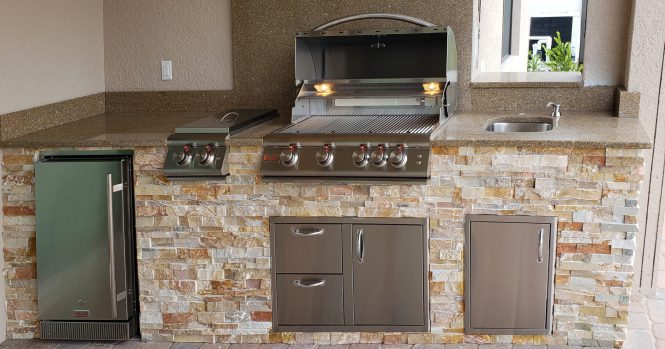 Prato Outdoor Kitchen by Elegant Outdoor Kitchens, Fort Myers, FL.
