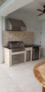 Blaze outdoor kitchen with Tradewind Hood