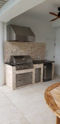 Blaze outdoor kitchen with Tradewind Hood