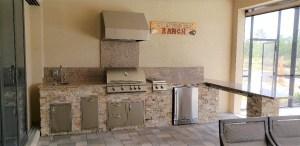 L Shape outdoor kitchen Taylor Morrison