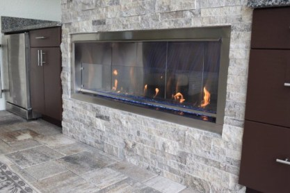 Superior fire feature and outdoor living space Naples, Florida