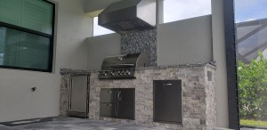 Beautiful Custom Summer Kitchen by Elegant Outdoor Kitchens of Fort Myers Florida